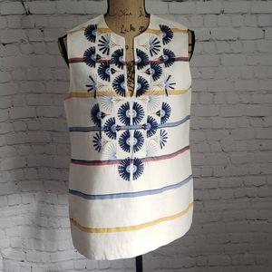 Tory Burch Avery Sleeveless Tunic, Boho Embroidery